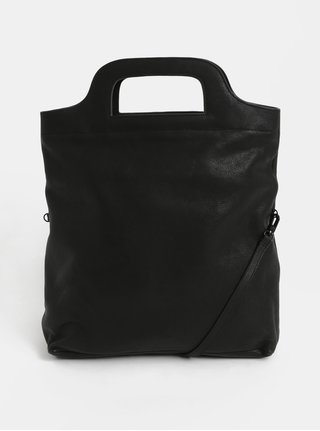 Čierna kožená kabelka Vagabond Roskilde