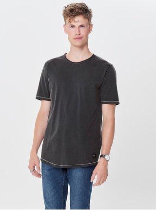 Čierne basic tričko ONLY & SONS Pauli