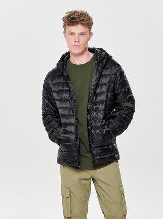 Černá prošívaná lehká bunda ONLY & SONS Eddi