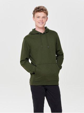 Zelená mikina s kapucí ONLY & SONS