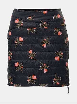 Tmavomodrá kvetovaná šuštiaková sukňa Maloja Corina