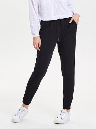 Pantaloni crop negri cu talie inalta ONLY Poptrash