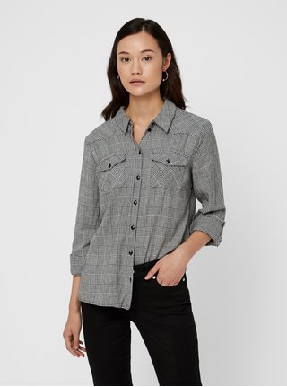 Šedá kostkovaná košile Noisy May