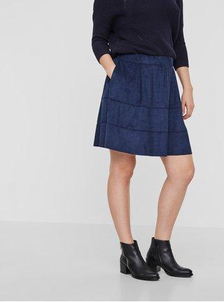Tmavomodrá sukňa v semišovej úprave Noisy May Lauren