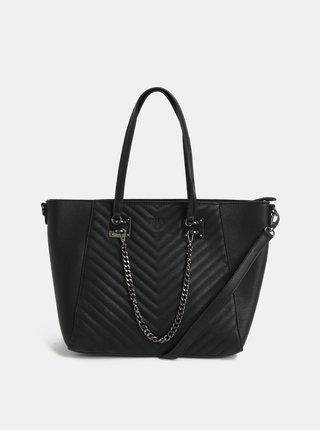 Černá prošívaná kabelka s řetězem Bessie London