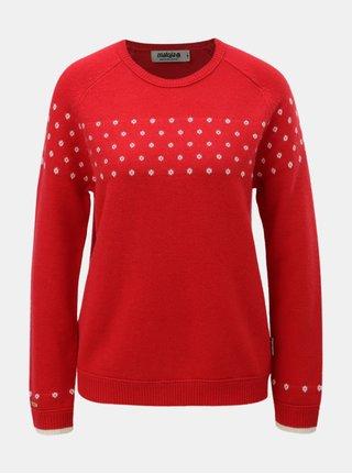 Červený dámský vlněný svetr s puntíky Maloja Muntabella