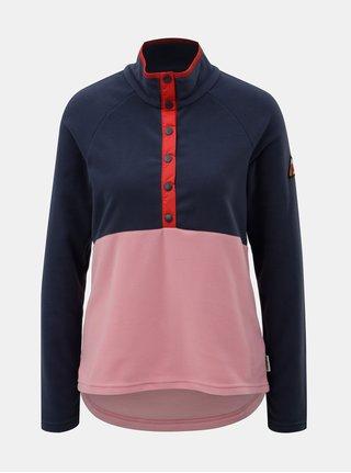 Bluza sport albastru-roz de dama din fleece Maloja Albula