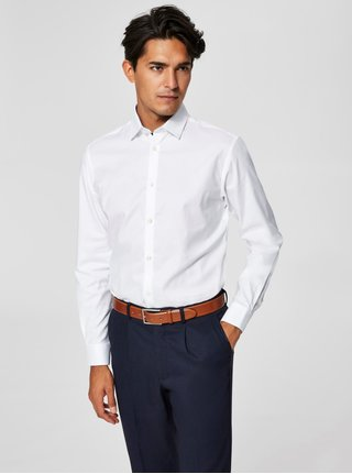Camasa alba slim fit din bumbac Selected Homme One New