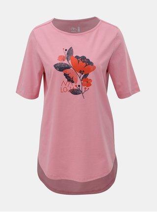 Tricou roz lejer de dama cu imprimeu Maloja Mormorera