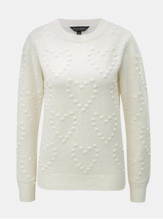 Krémový svetr s plastickým vzorem Dorothy Perkins