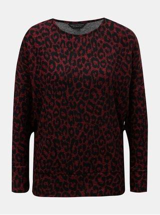 Vínový lehký svetr s leopardím vzorem Dorothy Perkins