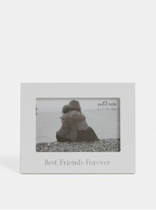 Rama foto alba cu imprimeu Sass & Belle Best Friends Forever