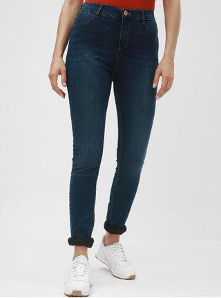 Modré super skinny džíny s vysokým pasem Dorothy Perkins Tall Frankie