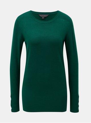Pulover verde cu nasturi pe maneci Dorothy Perkins Tall