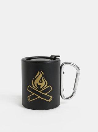 Cana termos neagra de calatorie cu carabina Iron & Glory by Luckies Happy Camper