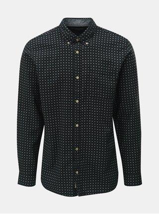 Čierna vzorovaná košeľa Jack & Jones Brody