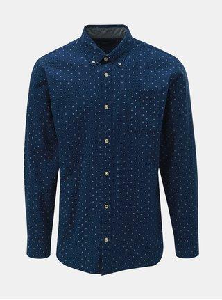 Tmavomodrá vzorovaná košeľa Jack & Jones Brody