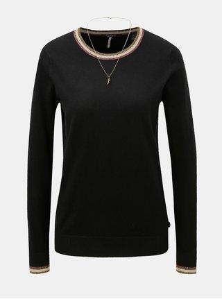 Černý lehký svetr s řetízkem a příměsí vlny Scotch & Soda