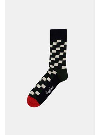 Sosete barbatesti verde-albastru Happy Socks Filled Optic Sock