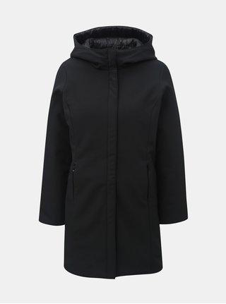 Čierny obojstranný kabát s kapucňou VERO MODA Reversible
