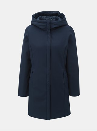 Tmavomodrý obojstranný kabát s kapucňou VERO MODA Reversible