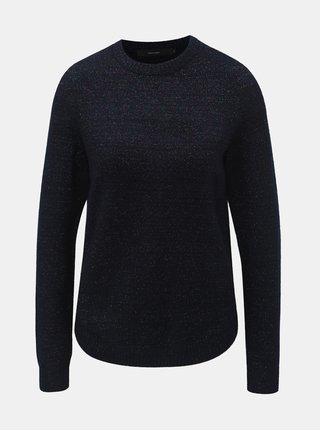 Tmavomodrý melírovaný sveter s metalickým vláknom VERO MODA Duarte