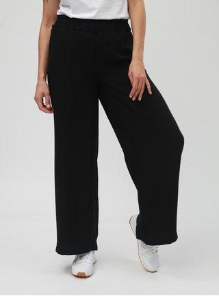 Čierne voľné nohavice s vysokým pásom VERO MODA Nim Wide