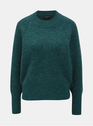 Zelený svetr s příměsí vlny Selected Femme Ena