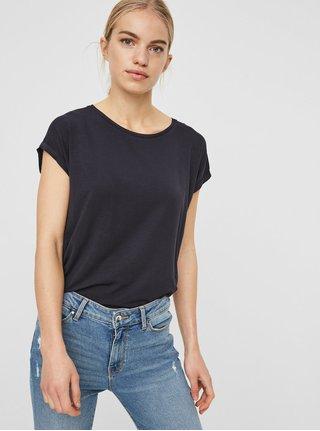 Tmavě modré basic tričko s krátkým rukávem VERO MODA AWARE Ava