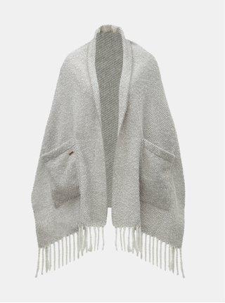 Sivý melírovaný šál s vreckami v darčekovom balení Something Special