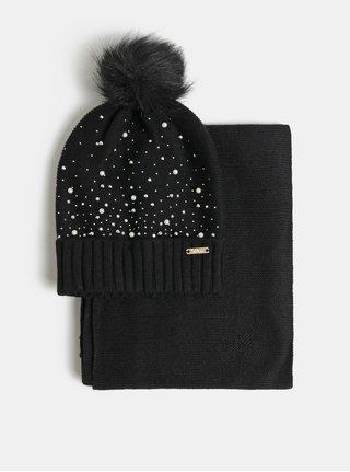Darčekové balenie čiapky a šálu v čiernej farbe Something Special