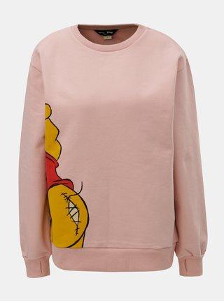 Bluza sport roz cu imprimeu Femi Stories