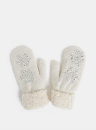 Biele palčiaky s prímesou angorskej vlny v darčekovej škatuľke Something Special