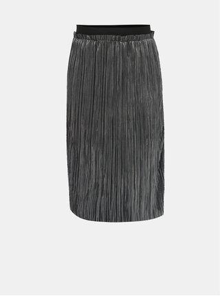Dievčenská lesklá plisovaná sukňa v striebornej farbe LIMITED by name it