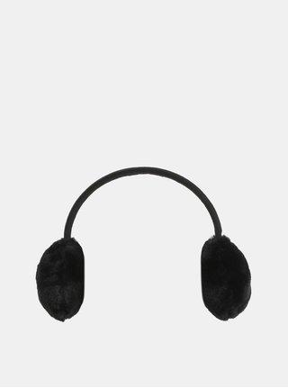 Čierne klapky na uši Pieces Kasandra