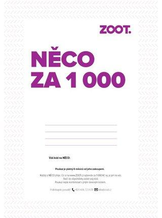 Elektronický poukaz na NĚCO ze ZOOTu v hodnotě 1000 Kč