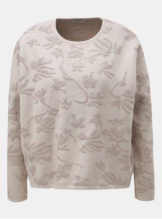 Krémový oversize sveter s metalickým vláknom ONLY Molise