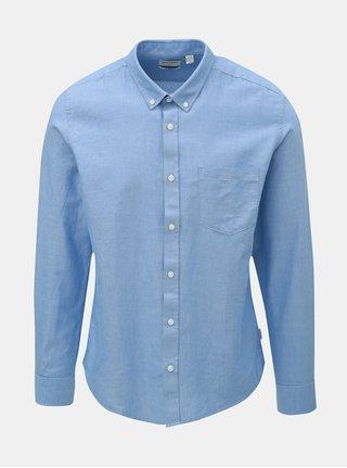 Světle modrá slim košile s náprsní kapsou ONLY & SONS Alvaro