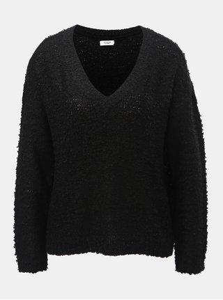 Černý svetr s véčkovým výstřihem Jacqueline de Yong Bucca