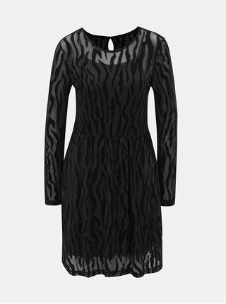 Rochie neagra cu model si detalii transparente ONLY Flikka