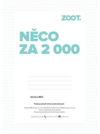Elektronický poukaz na NĚCO ze ZOOTu v hodnotě 2000 Kč