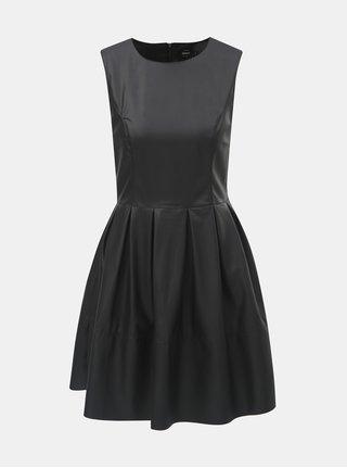 Rochie neagra din piele sintetica fara maneci ONLY Joelle