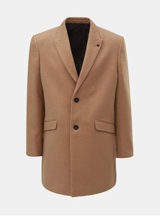 Hnědý kabát Burton Menswear London Crombie