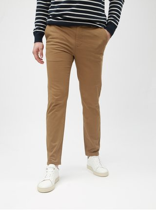 Hnědé skinny chino kalhoty Burton Menswear London