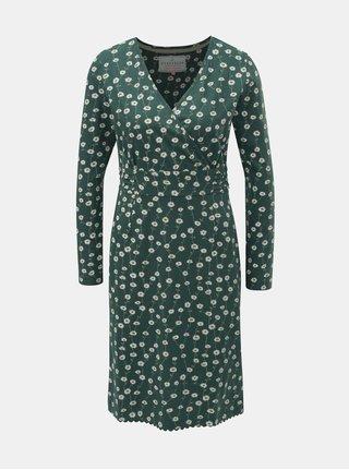 Zelené květované šaty s dlouhým rukávem Brakeburn