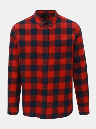 Camasa rosu-albastru in carouri Burton Menswear London Buffalo