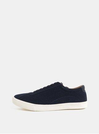 Pantofi sport albastru inchis cu aspect de piele intoarsa Burton Menswear London Sergi