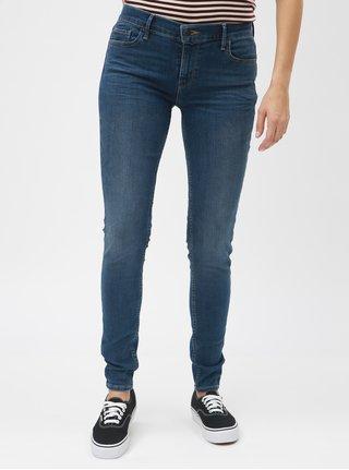 Modré dámské super skinny džíny Levi s® 710 0f54b8f9af