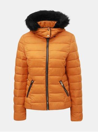 Oranžová zimní prošívaná bunda s odnímatelnou kapucí TALLY WEiJL