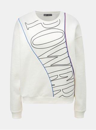 Bluza sport crem cu imprimeu TALLY WEiJL